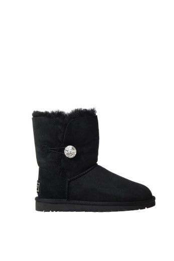 UGG Ugg Boots With Swarovski Crystal Button On The Side. #ugg #shoes #boots