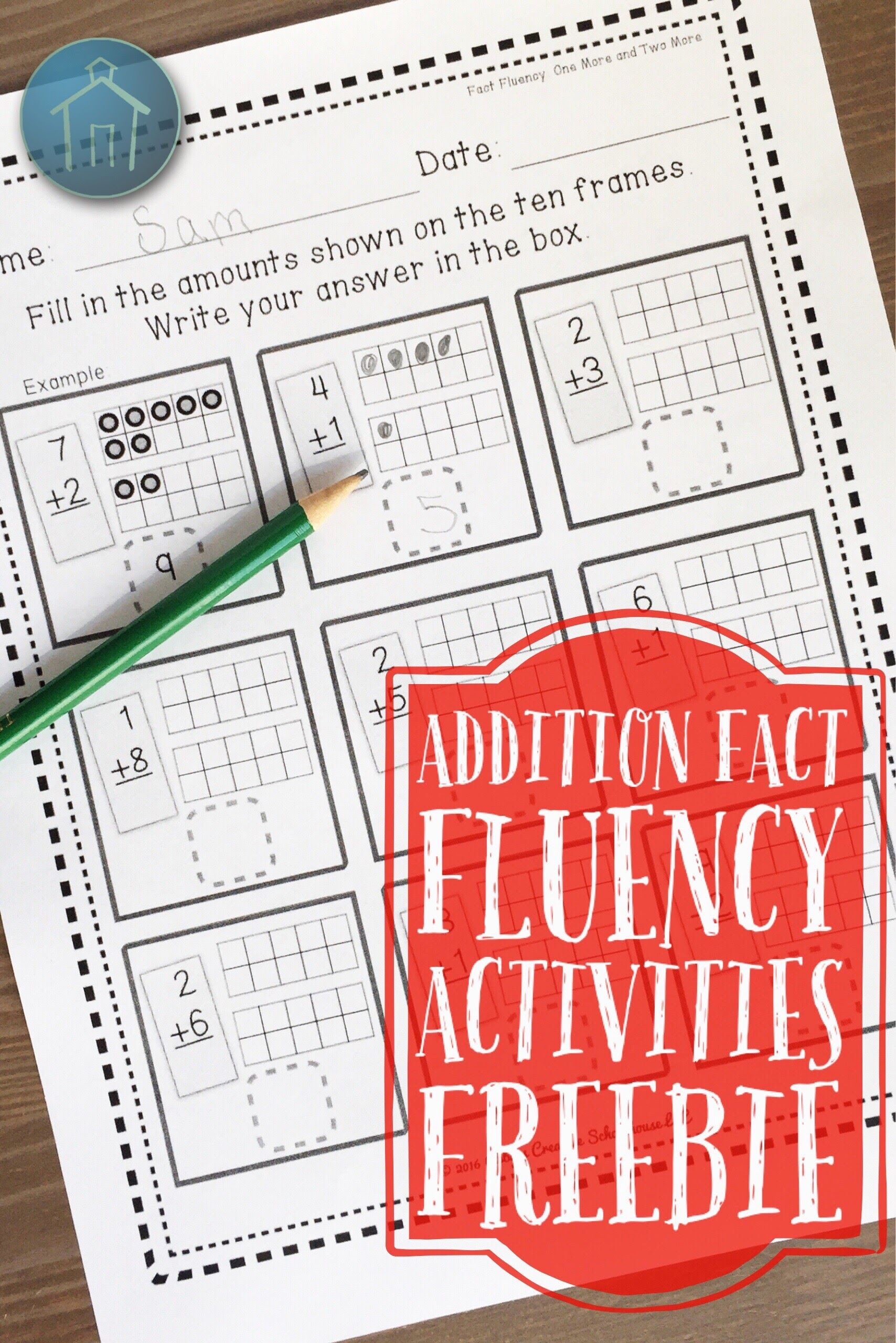 Addition Fact Fluency Activities Free