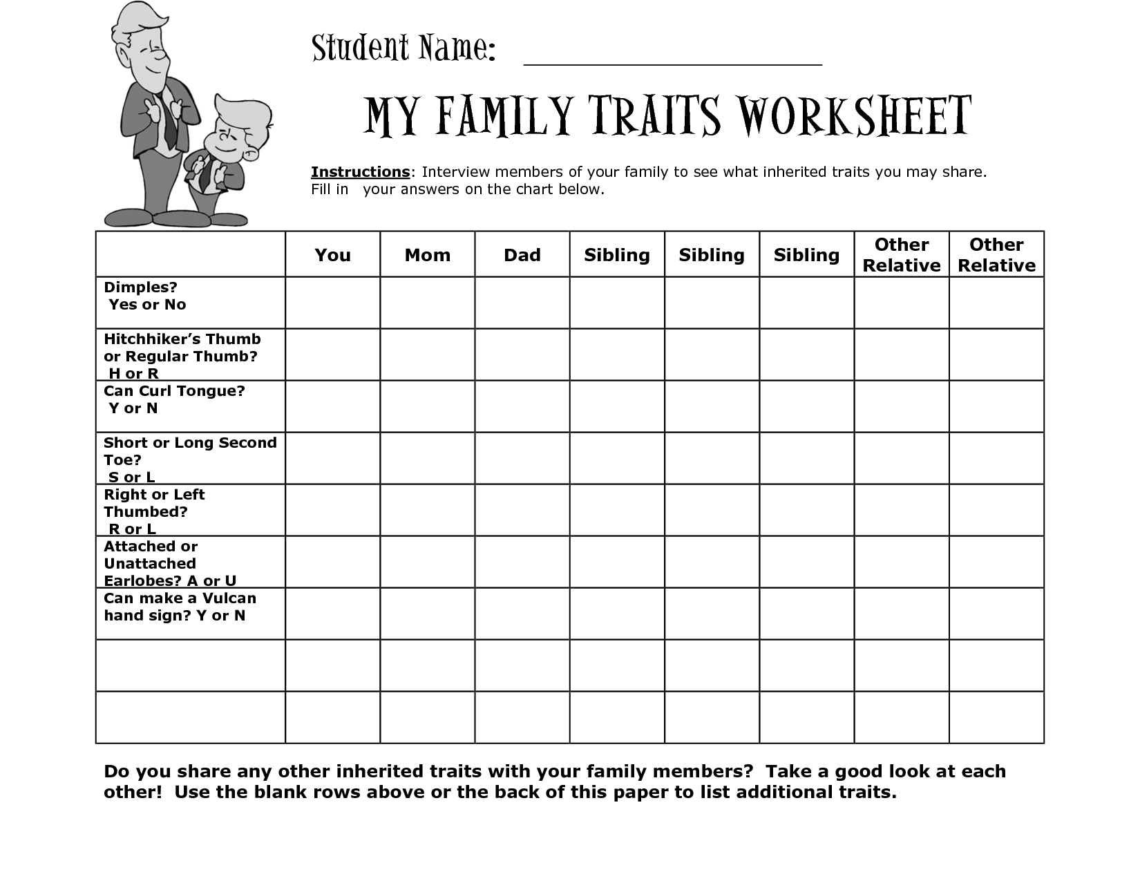 Pin by غاده محمد on Inherited and learned traits   Science worksheets [ 1275 x 1650 Pixel ]