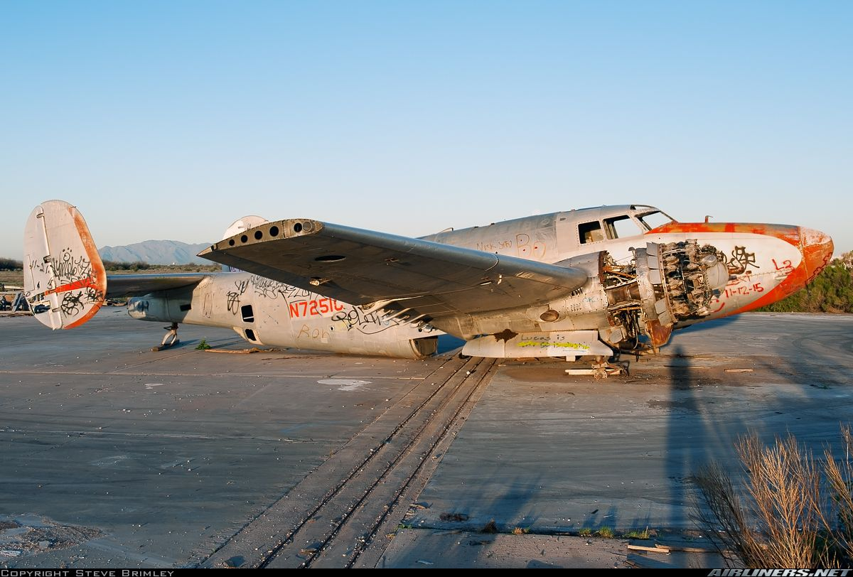 One of a number of abandoned planes at Chandler Memorial