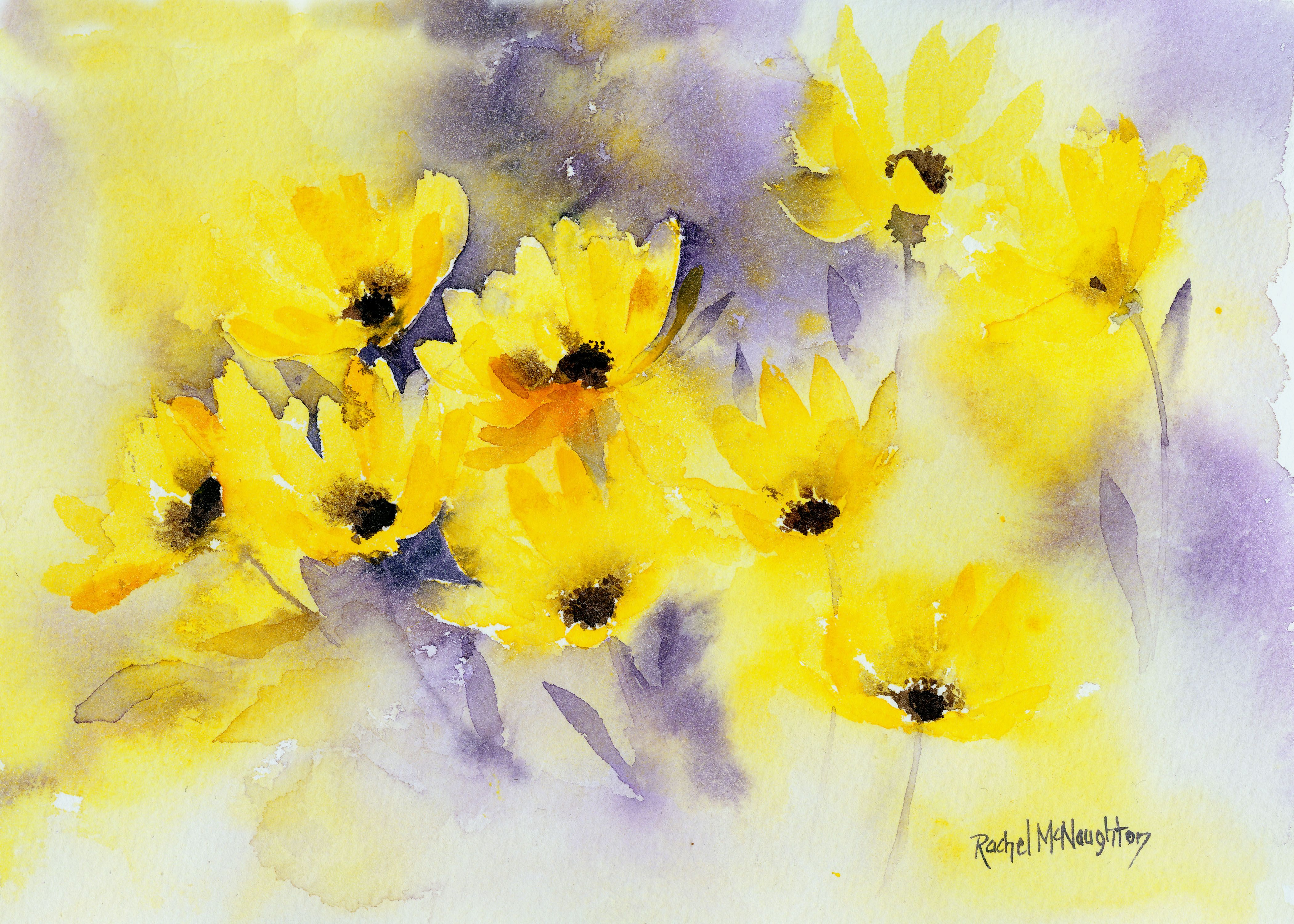I Love This Painting Bright Happy Yellow Helleniums