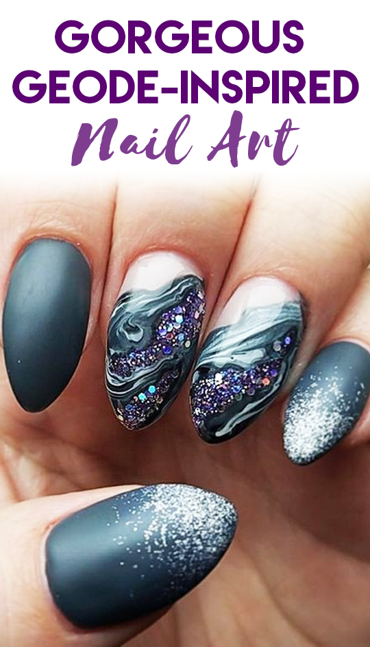 Gorgeous Geode-Inspired Designs Are the Newest Trend in Nail Art ...