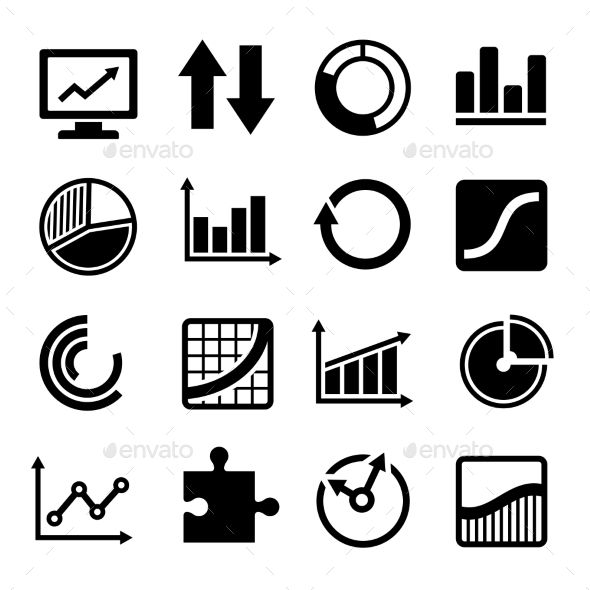 Business Diagram and Infographic Icons Set | Icons, Business and ...