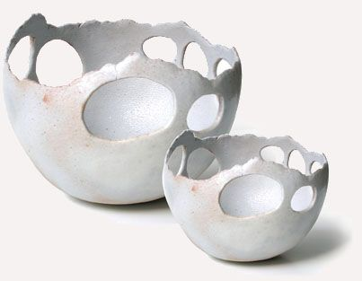 These remind me of the hot pots in Yellowstone Sara Kirschen - pierced bowls