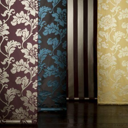 Clarke and Clarke -  Venetian Silks Fabric Collection - Silk fabric in various classic designs from Venetian Silks fabric collection