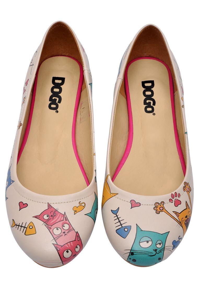 Bailarinas Cat Lovers - crudo y multicolor
