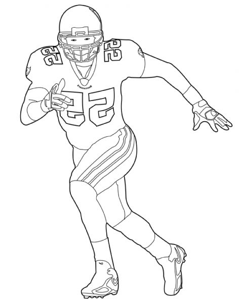 The Best Football Player Coloring Pages Http Coloring Alifiah