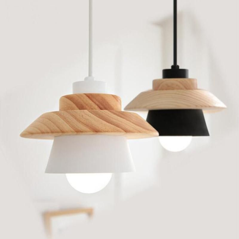 Nordic Pendant Light Wood And Aluminium Scandinavian Home Shop Decor Accessories Suspension Luminaire Luminaire Lampe Suspendue