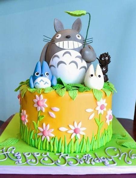 Stupendous Sunday Sweets Studio Ghibli Anime Cake Totoro Cake Wrecks Funny Birthday Cards Online Aeocydamsfinfo