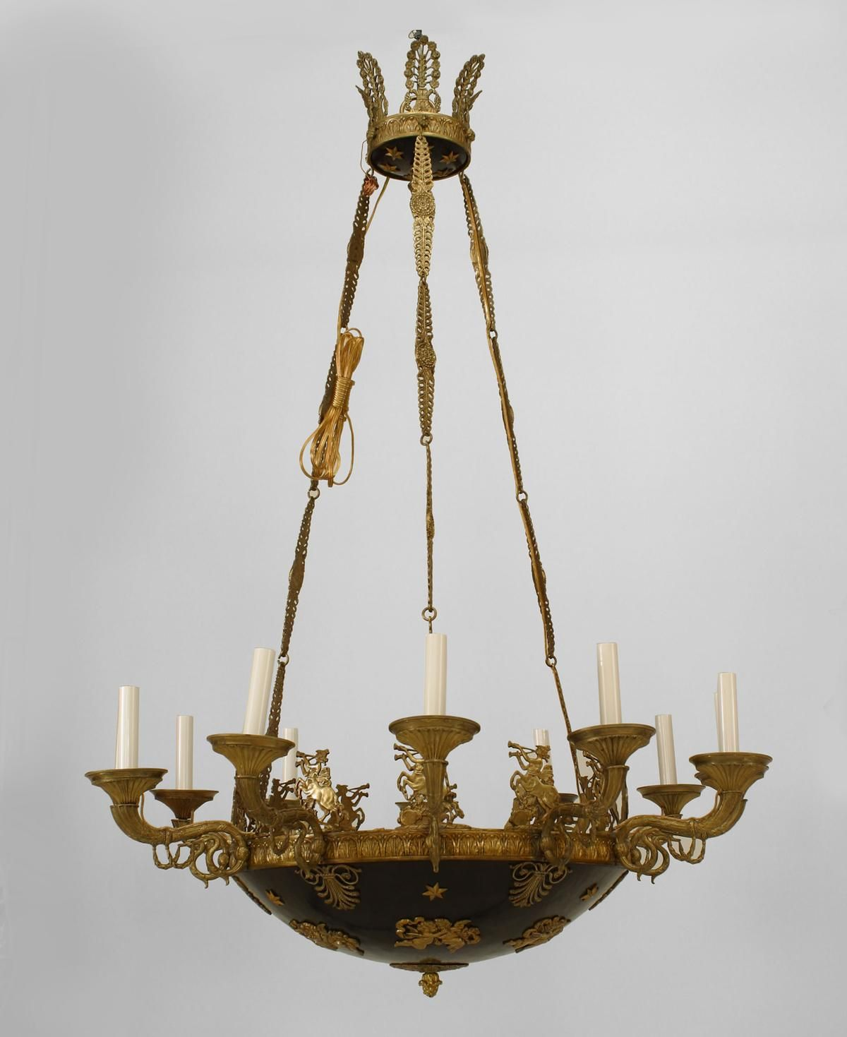 French Empire lighting chandelier gilt | French Empire ...