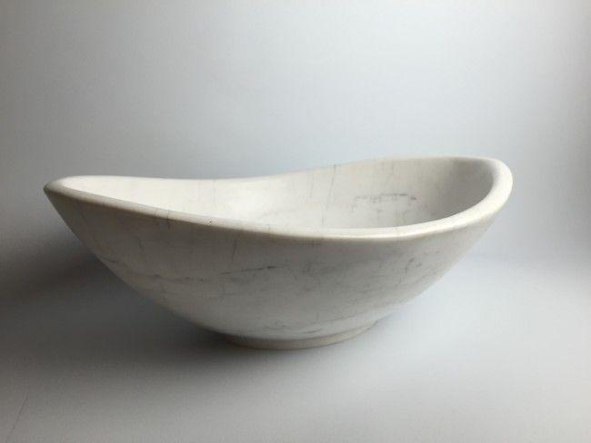 Wasbak wit marmer ovale waskom | Badkamer ideeën | Pinterest