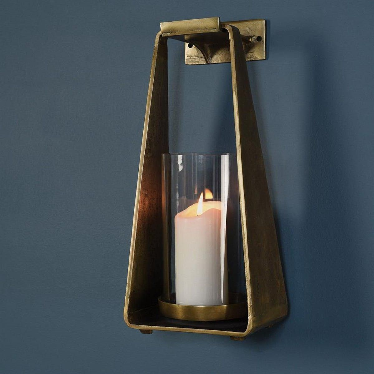 Homart Taylor Sconce With Wall Hook Brass Candle Sconces Large Candle Sconces Candle Wall Sconces