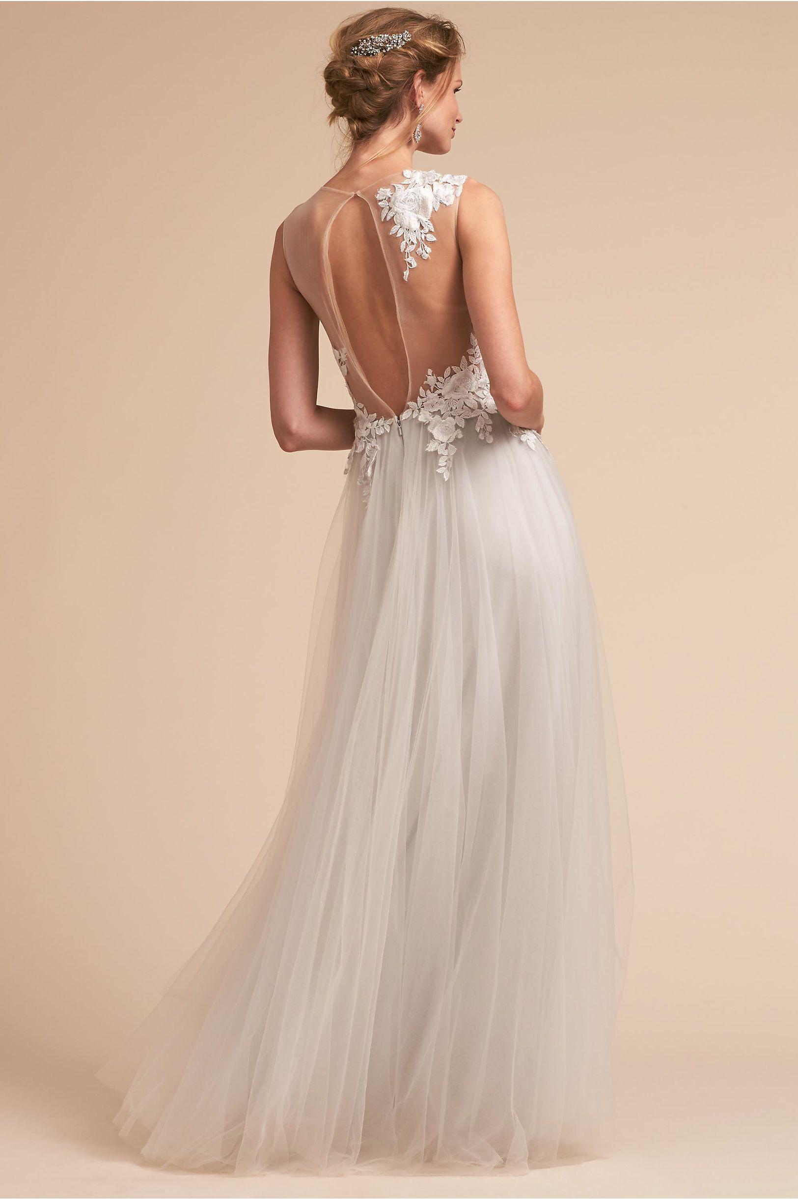 BHLDN\'s Tadashi Shoji Marsden Gown in Light Grey | Wedding dress ...