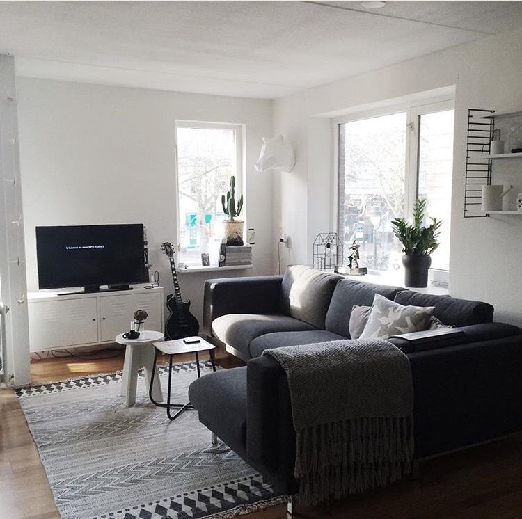 Ikea Nockeby Dark Grey Corner Lounge Dark Grey Sofa Living Room