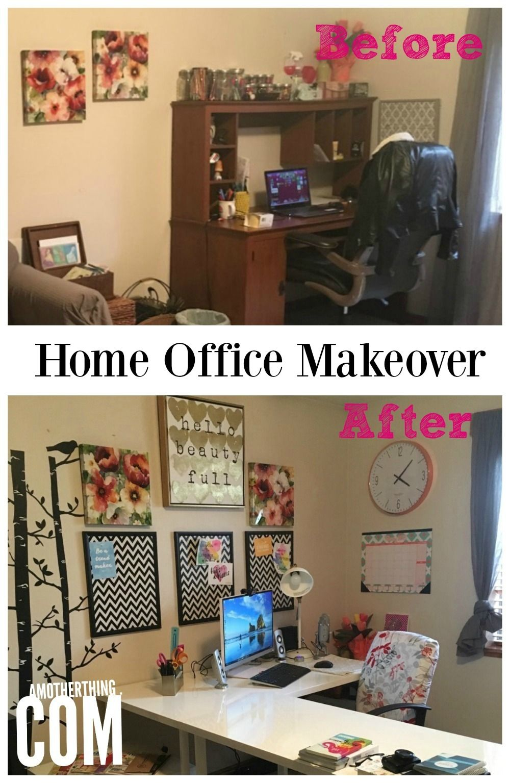My Home Office Makeover | A Mother Thing