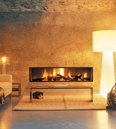 Horizontal Gas Fireplace | Modern Gyrofocus Fireplace By ...