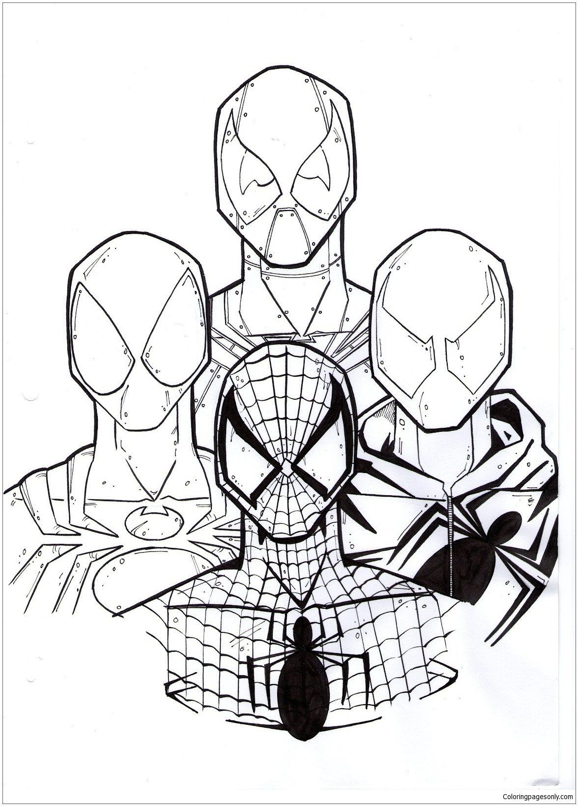Lego Spiderman Coloring Pages Best Deadpool And Spiderman Coloring Page Free Coloring Bear Coloring Pages Spiderman Coloring Valentine Coloring Pages
