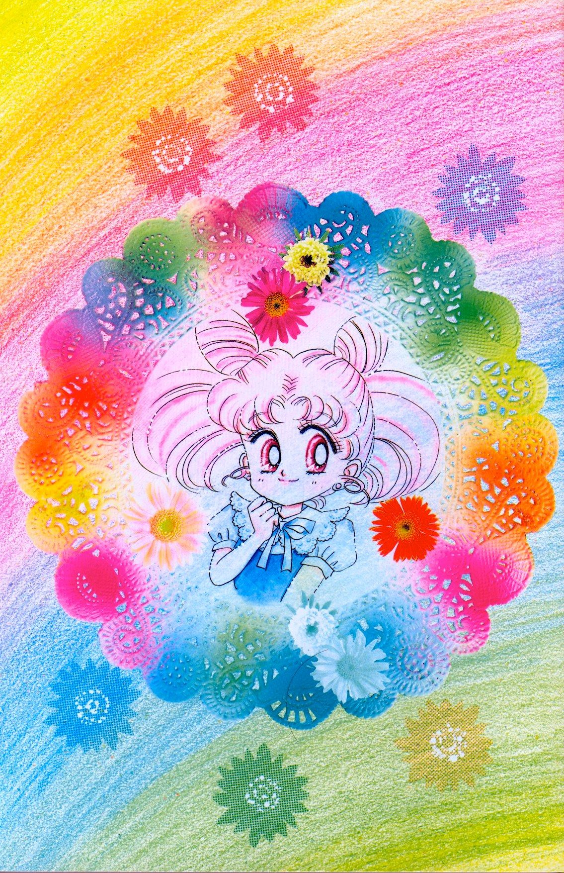 ChibiUsa; from Bishoujo Senshi Sailor Moon Original Picture Collection, Vol. II | art by Naoko Takeuchi