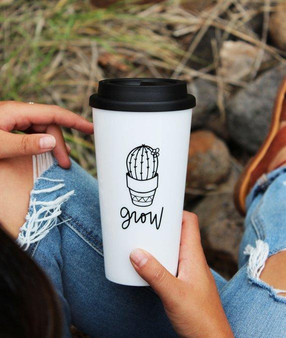 Grow Mug Coffee Tumbler Travel