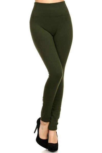 Fashionable Leggings Solid Seamless Skinny Pants Black Stretch Footless One Size
