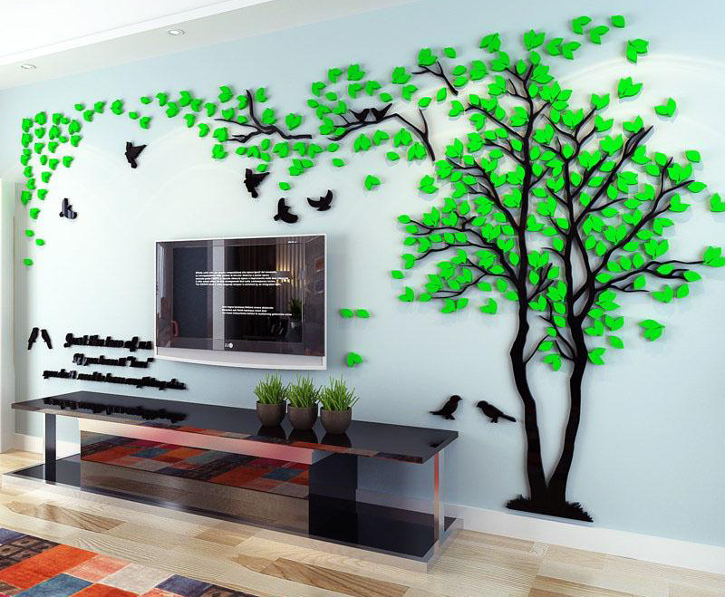 Diy 3d Tree Wall Stickers Tree Wall Stickers Wall Stickers Wall Stickers Living Room