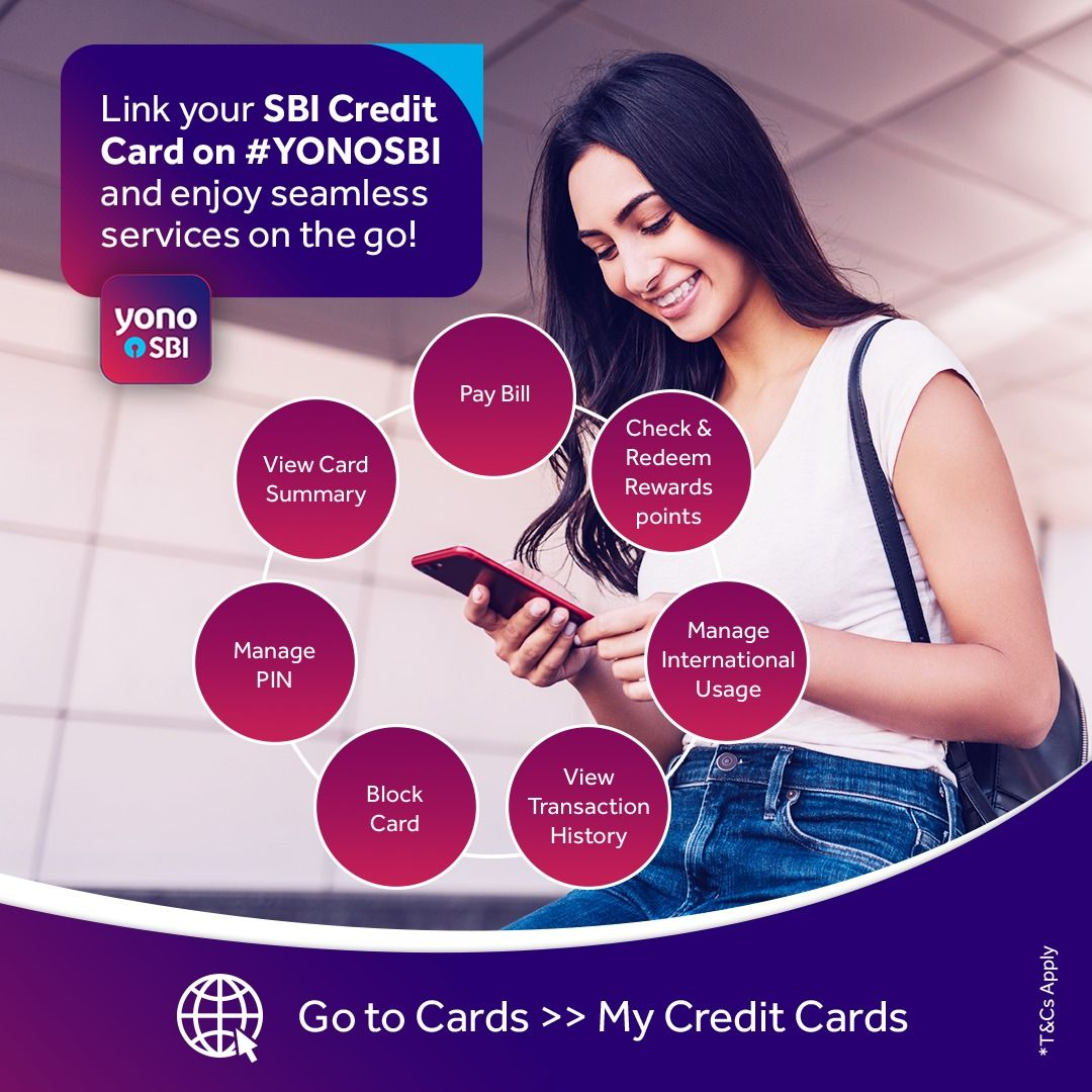 Link your sbi credit card on yonosbi and enjoy seamless