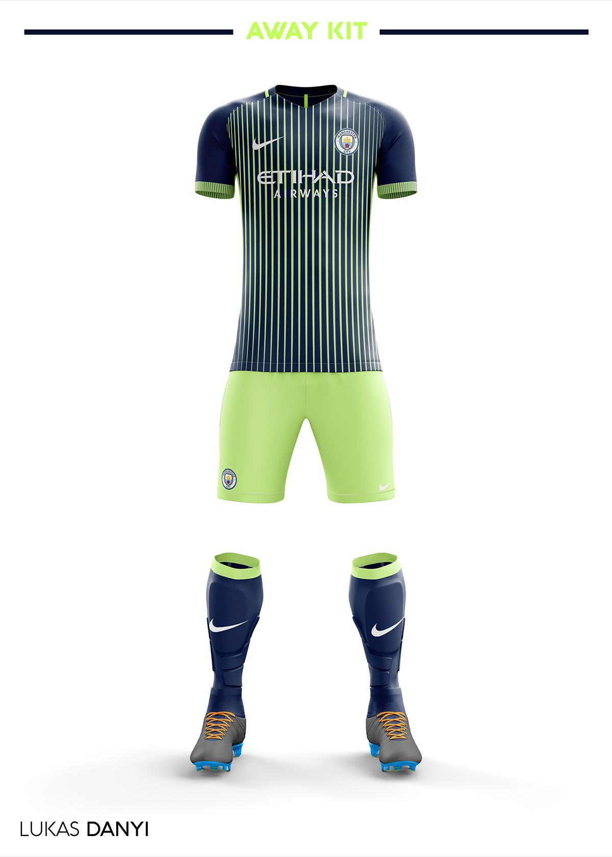 hot sale online ac996 333b6 Manchester City Football Kit 18/19. on Behance | Jersey ...