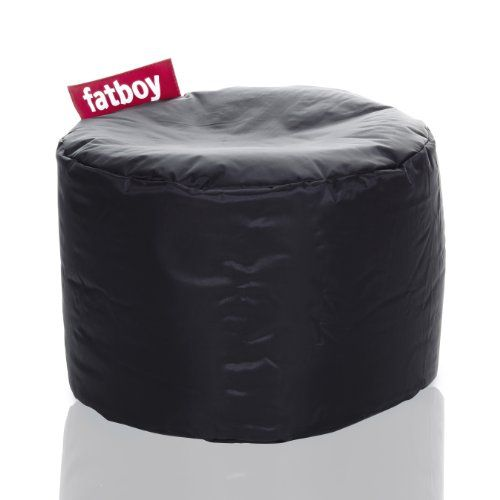 Fatboy Point, Black Cute mini bean bag from Fatboy; fun and functional seat for kids, or use as a footrest. Durable nylon cover with protective PVC coating for stain- and water-resistance; filled with virgin polystyrene beads. Designed by Finnish designer Jukka Setala to modernize the bean bag for the 21st century; compact for easy storage. Spot clean with damp cloth and mild soap; available in 15... #Fatboy #Home
