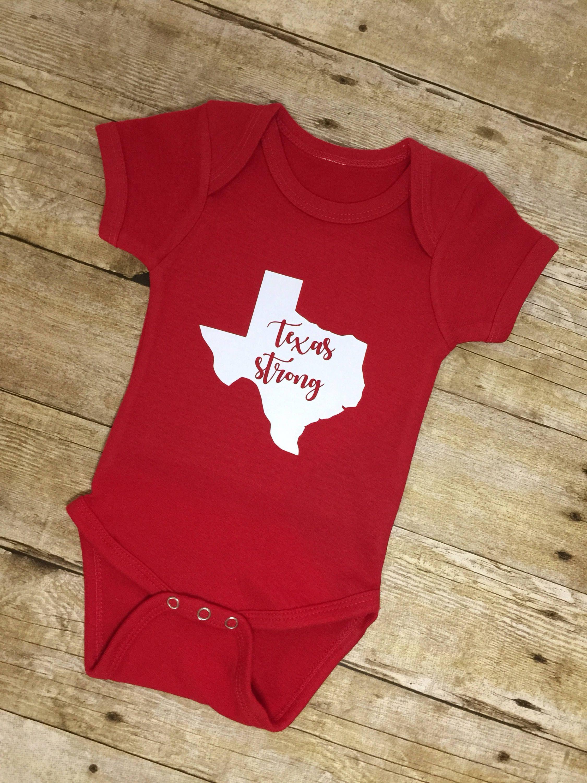 Texas Strong esie Texas Bodysuit Gender Neutral Baby Clothes