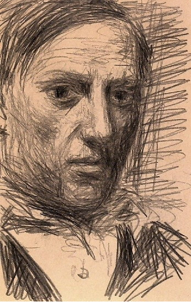 Self portrait by pablo picasso 1940 pencil on paper museum ludwig cologne picasso known for cubism in a non cube y self portrait