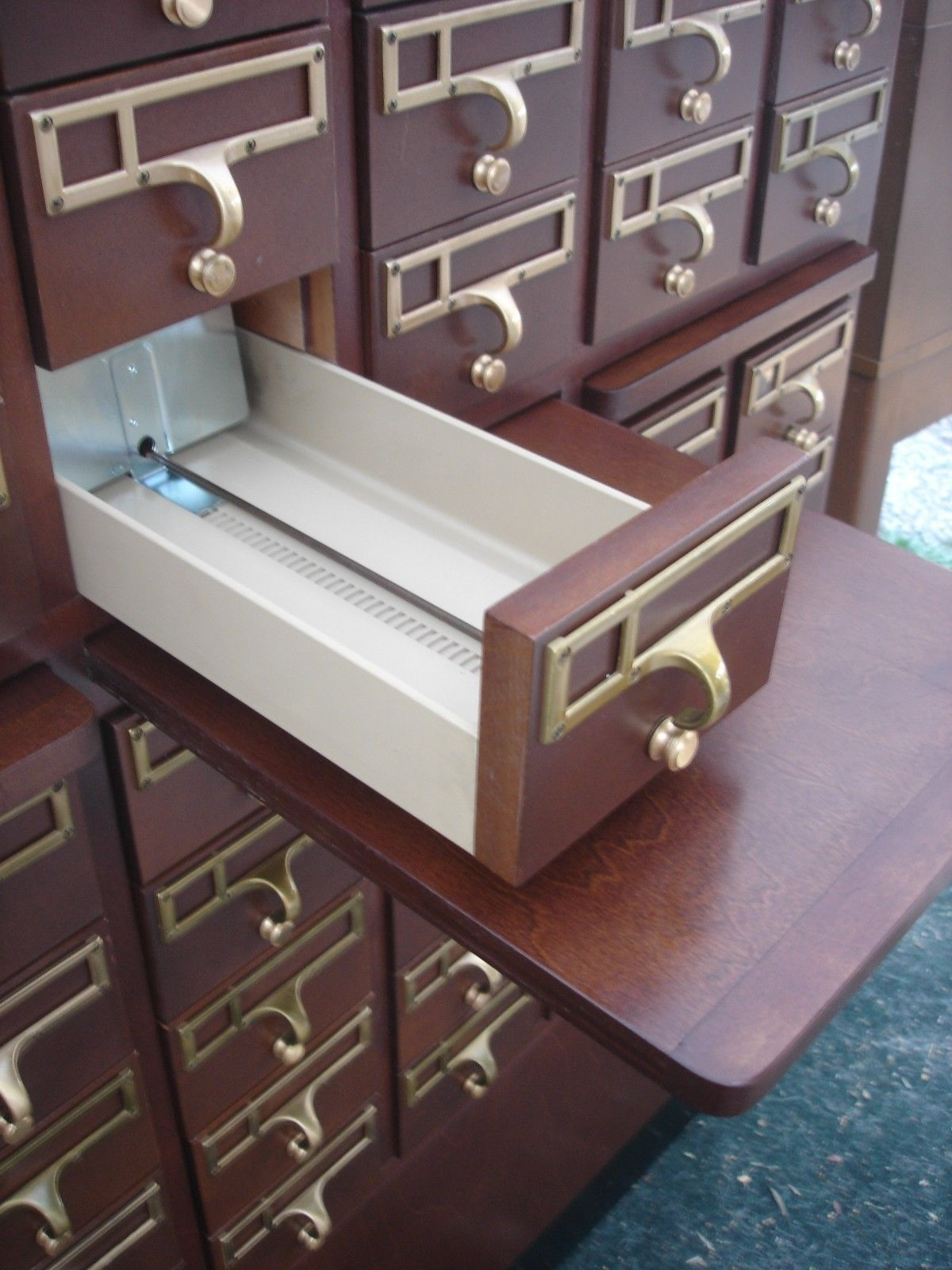 Vintage File Cabinet 60 Drawer Library Card Catalog Index ...