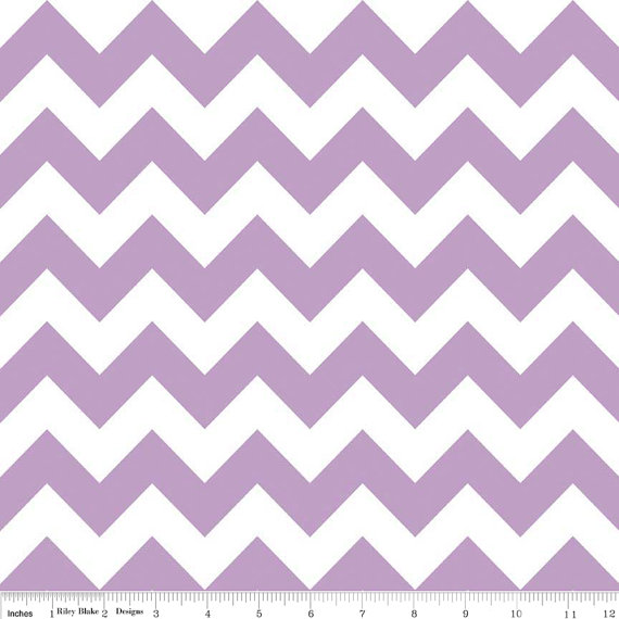 Chevron Fabric Purple And White Riley Blake Designs 100 Cotton Pattern