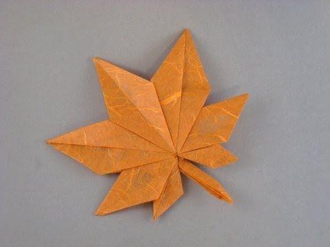 Origami Leaf - YouTube | origami green | Origami leaves ... - photo#39