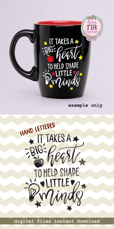 Il faut un gros coeur pour aider à forme petit esprit, les enseignants jour devis numérique coupe fichiers, SVG, DXF studio3 pour cricut, camée silhouette, Stickers par LoveRiaCharlotte sur Etsy https://www.etsy.com/fr/listing/512294163/il-faut-un-gros-coeur-pour-aider-a-forme