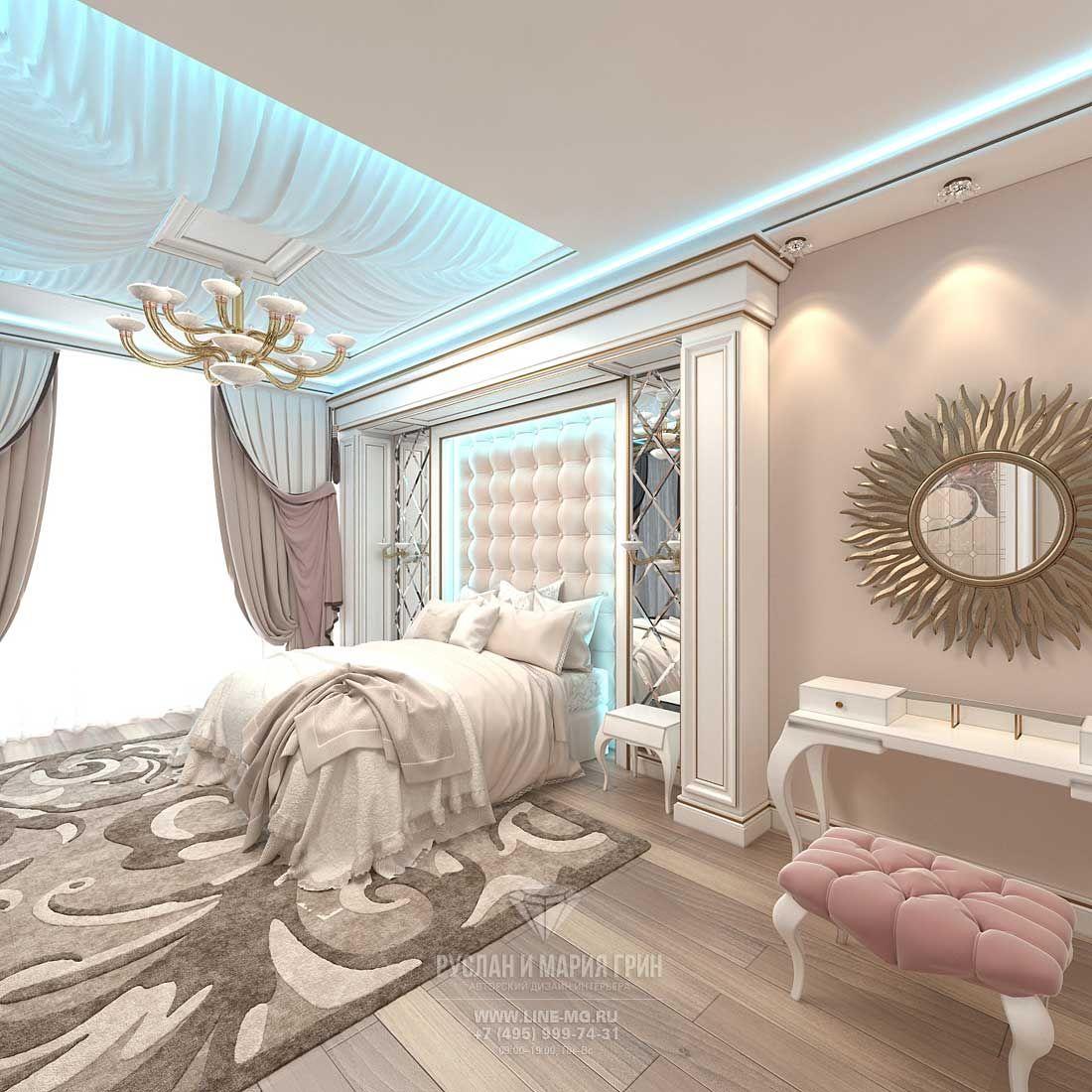 декор спальни в бежевых тонах фото