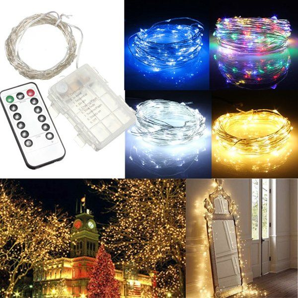 Only US$760, buy best 10m 100 led battery operated silver wire