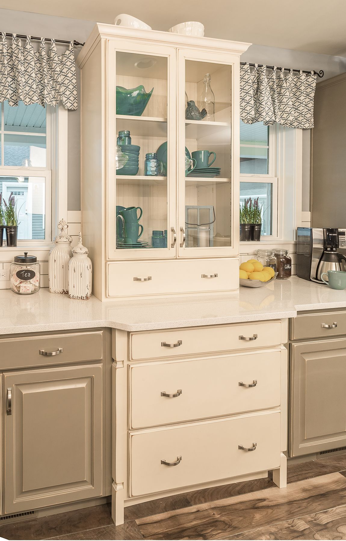 Furniturestyle builtin china cabinet fun cottage accent piece