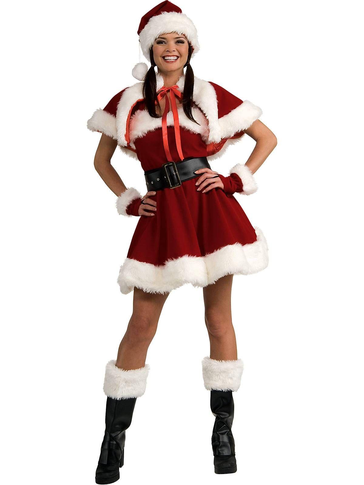 c9428028ddd Womens Sexy Velvet Sexy Miss Santa Adult