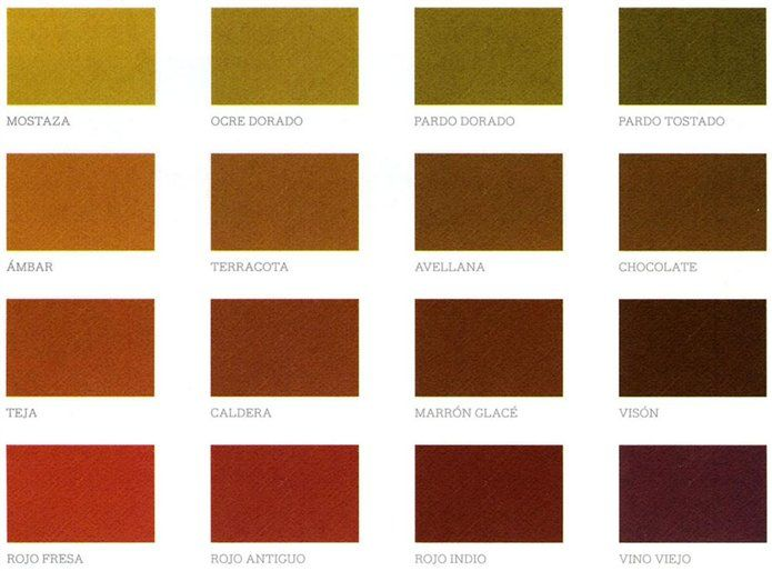 Colores c lidos los m s acogedores ocres y rojos con for Paleta de colores grises
