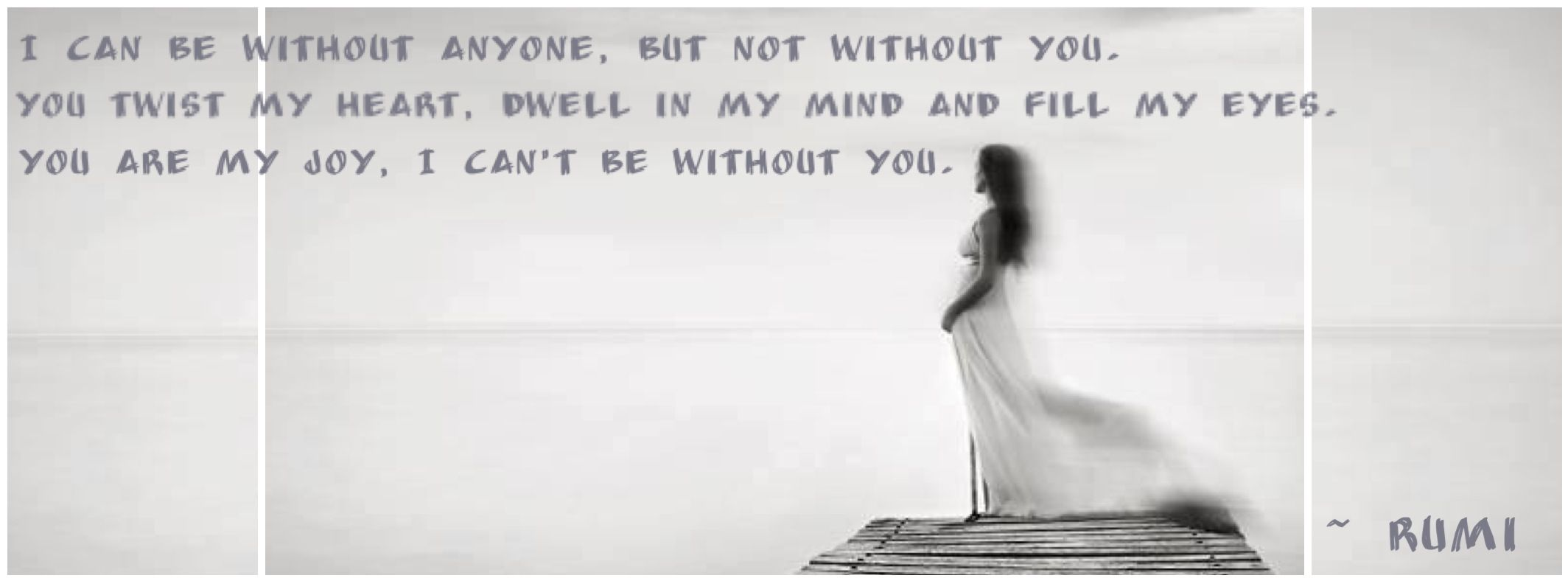 Rumi Quote Facebook Timeline Cover Photo I Photography