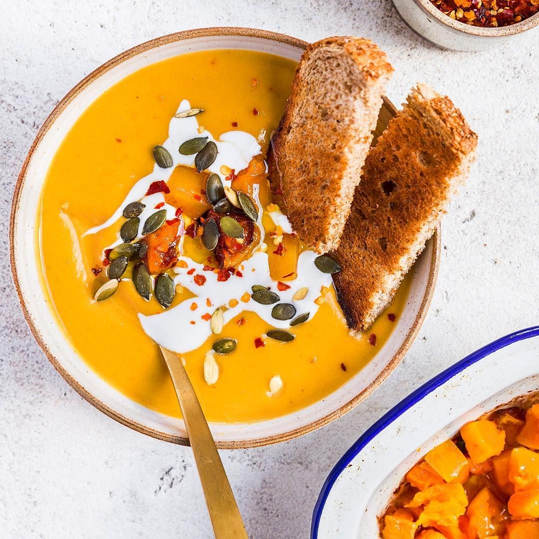 """19.2k Likes, 269 Comments - Deliciously Ella (@deliciouslyella) on Instagram: """"Sunday soup  I roasted chunks of squash with a drizzle of maple, salt, pepper and olive oil until…"""""""