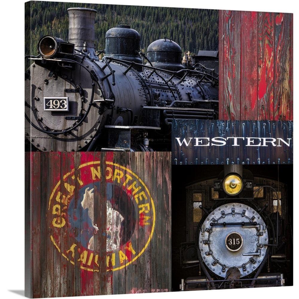 Greatbigcanvas Historic Train Collage Iii By Kathy Mahan Canvas