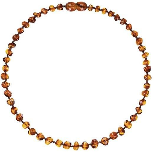 Amber Teething Necklace - Cognac Beans - Baltic Amber