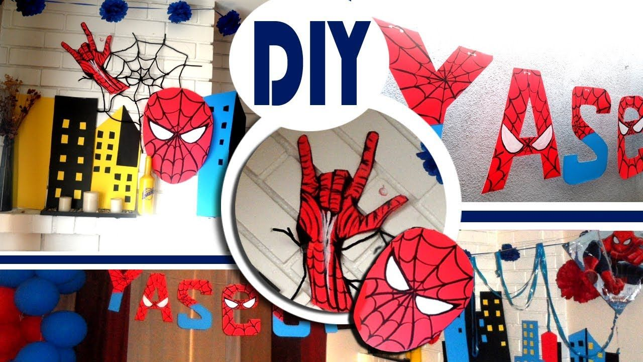 In This Video I Will Show You Some Amazing Ideas For Your Son S Birthday And The Whole Theme Will B Spiderman Birthday Party Spiderman Theme Spiderman Birthday