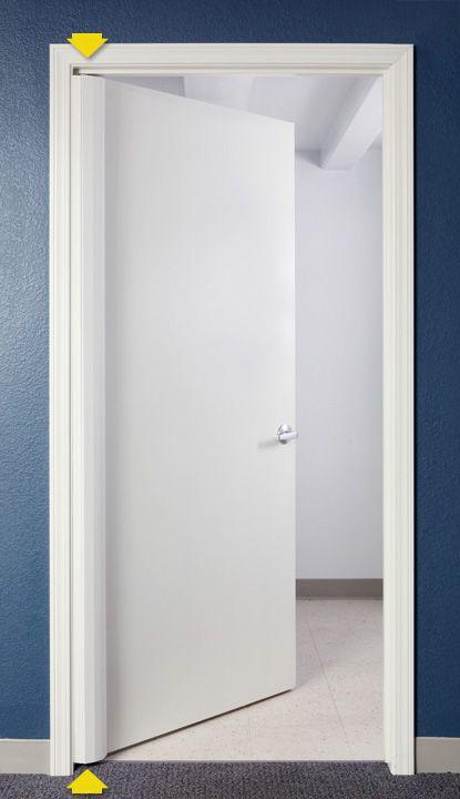 Door finger protection guard for hinge pin side of door