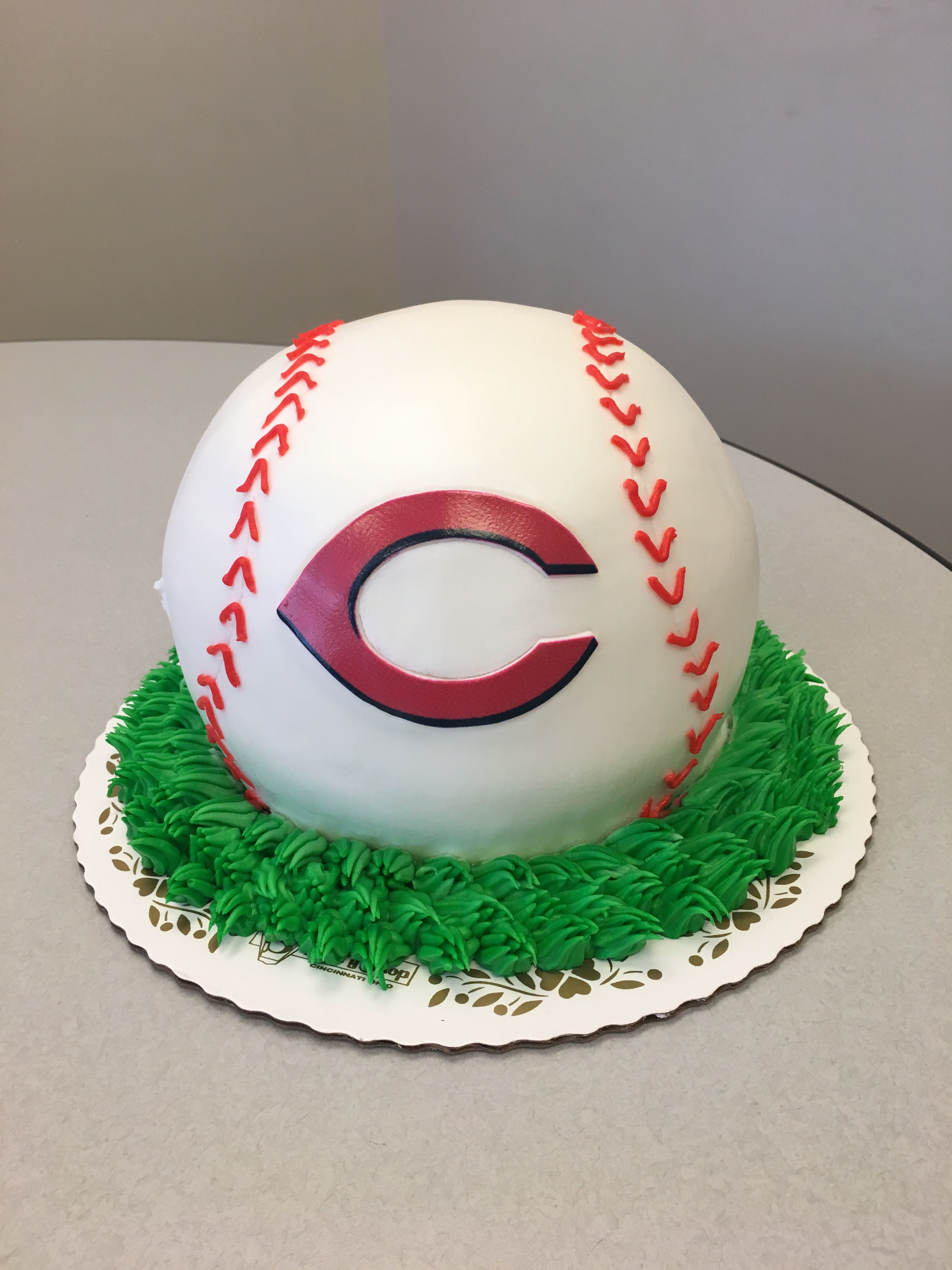 Peachy Cincinnati Reds Baseball Cake Red Birthday Party Red Birthday Personalised Birthday Cards Paralily Jamesorg