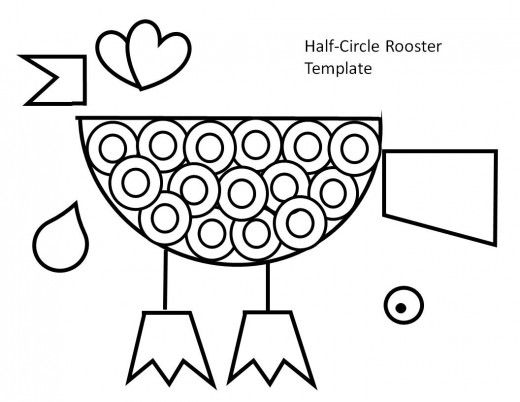 Printable Rooster Crafts For Kids Rooster Craft Rooster