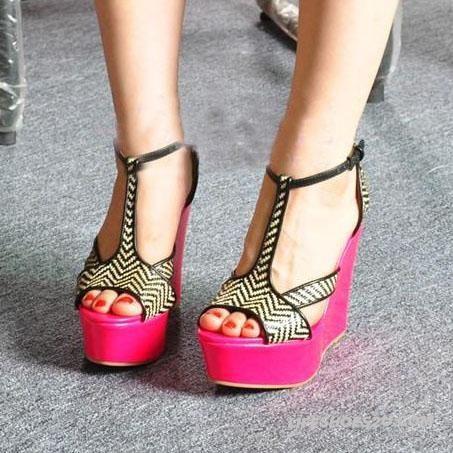 Jeffrey Campbell Candy Color Slipsole Slugged Bottom Sandal Fluorescence Color Platform Sandal