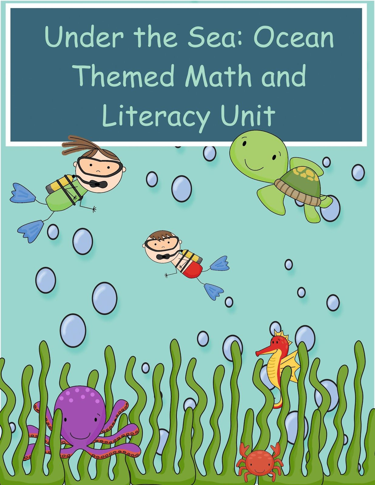 The Crazy Pre-K Classroom: Under the Sea: Ocean Themed Math and ...