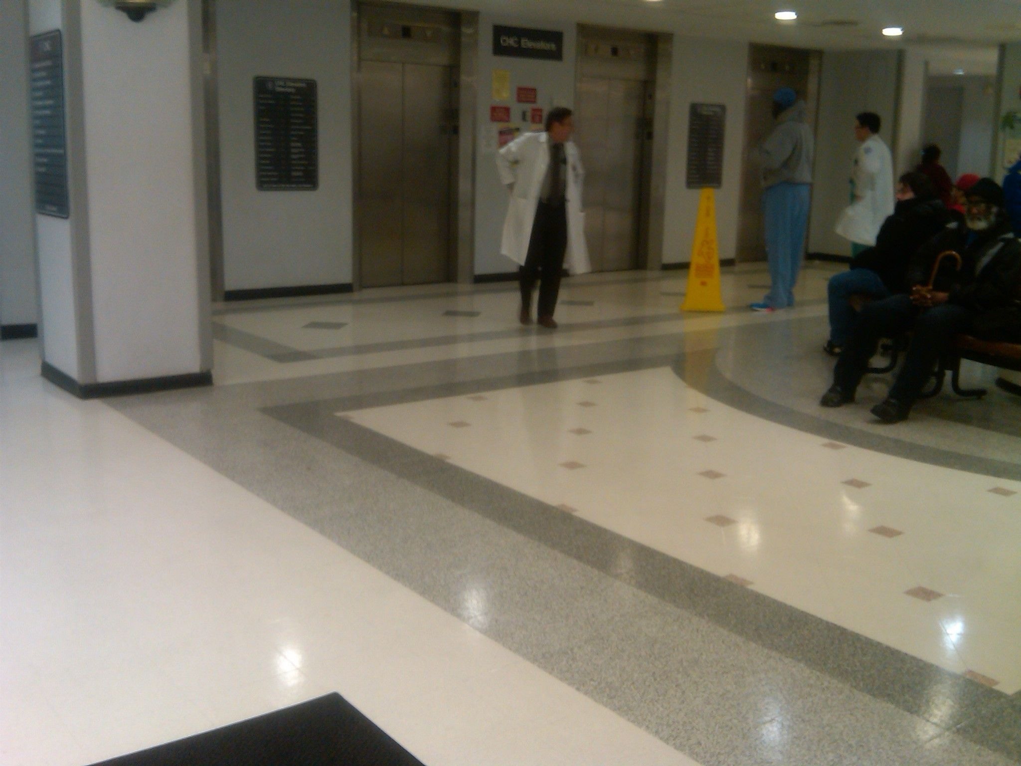 Brookedale medical center terrazzo tile logo hospital for High traffic flooring ideas